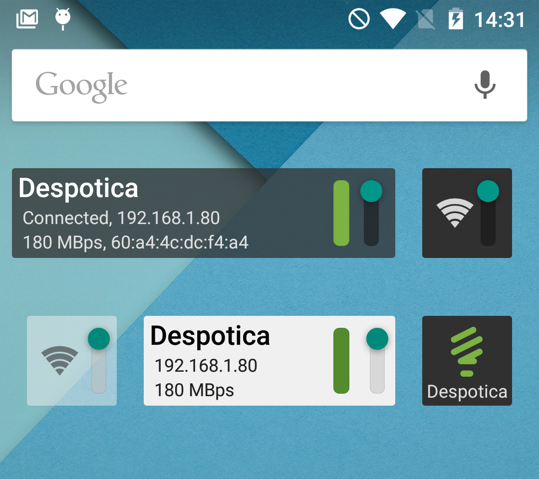wifi widget for android